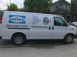 Shine Carpet Cleaning Van